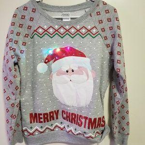 Other - Christmas sweatshirt Santa Lights Up